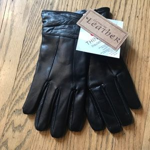 Thinsulate leather gloves NWT